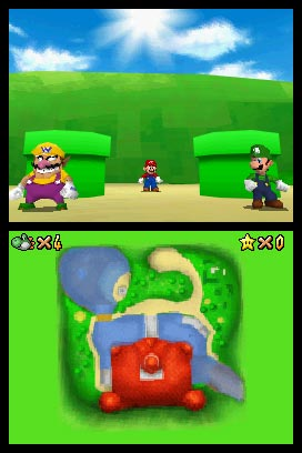 Mario, Luigi och Wario.